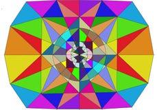 Abstrakt illustration för mosaik Royaltyfri Bild