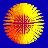 Abstrakt illustration för sfär 3d matris vektor illustrationer