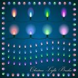 Abstrakt illustration för vektor av färgrika ljus på Arkivfoto
