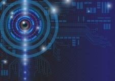 Abstrakt illustration för vektor för teknologibegreppsbakgrund Royaltyfria Bilder