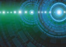 Abstrakt illustration för vektor för teknologibegreppsbakgrund Fotografering för Bildbyråer
