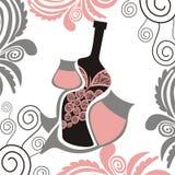 Abstrakt illustration för vin Arkivbild