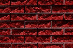 Abstrakt illustration i form av en tegelstenmurverkkombination av rött och svart arkivbild