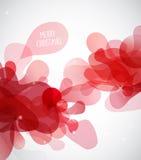 Abstrakt illustration med mist för röd färg med glad jul stock illustrationer