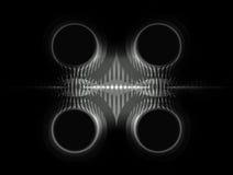abstrakt illustration Metall på en svart bakgrund Fotografering för Bildbyråer