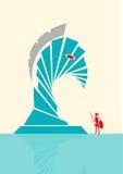 Abstrakt illustrationbegrepp för Trojanska hästen Redigerbar gemkonst vektor illustrationer