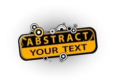 abstrakt illustrationtext Arkivbilder