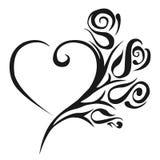 Abstrakt ilustracja piękny kwiecisty kierowy wektor pocałunek miłości człowieka koncepcja kobieta ilustracja Zdjęcie Stock