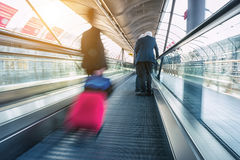 Abstrakt image of Commuters in speed Royalty Free Stock Image