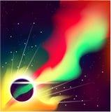 Abstrakt impulsiv ljus kosmisk bakgrund, vektor Royaltyfria Bilder