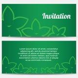 Abstrakt inbjudan med blommor Royaltyfria Bilder