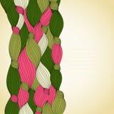 Abstrakt inbjudankort för färg Arkivbild
