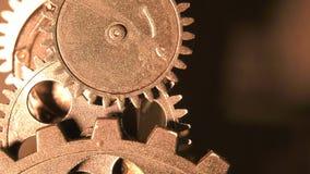 Abstrakt industriell Grunge Rusty Metallic Clock Gears arkivfilmer