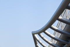 Abstrakt industriell stålstruktur Arkivfoto
