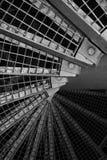 abstrakt industriell trappa Arkivfoto