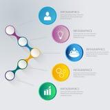 Abstrakt infographic Zdjęcia Stock