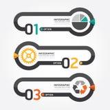 Abstrakt infographic linje digital designillustration för mall Arkivfoto
