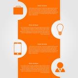 Abstrakt infographic. Mall för modern design Royaltyfri Foto