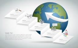 Abstrakt infographic mall kan användas för workflowen, orienteringen, diagram Arkivbild