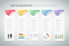 Abstrakt infographic mall kan användas för workflowen, orienteringen, diagram Royaltyfri Foto