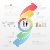 Abstrakt infographic mall kan användas för workflowen, orienteringen, diagram Royaltyfri Bild