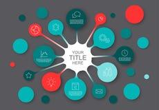 Abstrakt infographic mall med cirklar Royaltyfria Foton