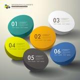 Abstrakt infographics 3d för vektor stock illustrationer