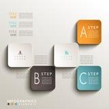 Abstrakt infographics för etikett 3d