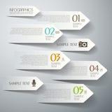 Abstrakt infographics för papper 3d Royaltyfria Bilder