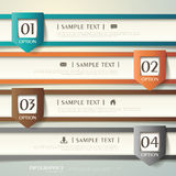 Abstrakt infographics för papper 3d Royaltyfri Bild