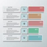 Abstrakt Infographics för papper 3D färg Royaltyfri Foto