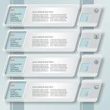 Abstrakt Infographics för papper 3D lutande Royaltyfri Foto