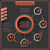 Abstrakt infographicsdesign Royaltyfri Bild