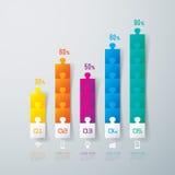 Abstrakt infographicsmalldesign. Royaltyfria Bilder