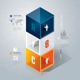 Abstrakt infographicsmalldesign. Arkivfoton