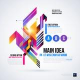 Abstrakt infographicsorientering med glansiga geometriska beståndsdelar Royaltyfria Bilder