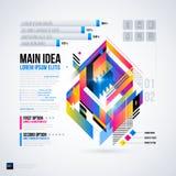 Abstrakt infographicsorientering med glansiga geometriska beståndsdelar Royaltyfri Foto