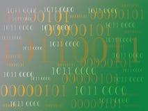 Abstrakt informationsbakgrund med binär kod grön teknologi Fotografering för Bildbyråer