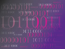 Abstrakt informationsbakgrund med binär kod grön teknologi arkivbild