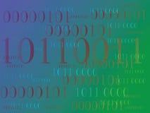 Abstrakt informationsbakgrund med binär kod grön teknologi Arkivbilder