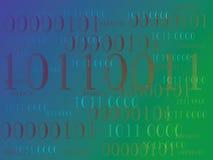 Abstrakt informationsbakgrund med binär kod grön teknologi royaltyfri foto