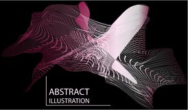 Abstrakt ingrepp av linjer illustration stock illustrationer