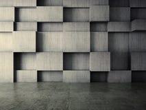 Abstrakt inre av betongväggbakgrund Fotografering för Bildbyråer