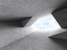 Abstrakt inre för betongväggdesignrum Arkitektur Backg Royaltyfri Fotografi