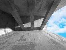 Abstrakt inre för betongväggdesignrum Arkitektur Backg Fotografering för Bildbyråer