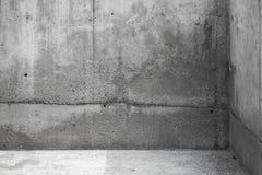 Abstrakt inre fragment konkret tom lokal Fotografering för Bildbyråer
