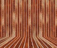 Abstrakt inre med den trägolvet och väggen Royaltyfria Bilder