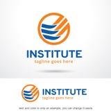 Abstrakt institut Logo Template Design Vector Arkivbild