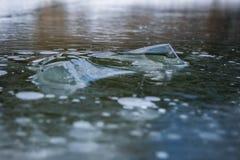 Abstrakt isbakgrund med detaljer royaltyfri foto