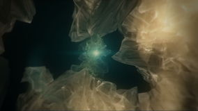 Abstrakt iskall orb arkivfilmer